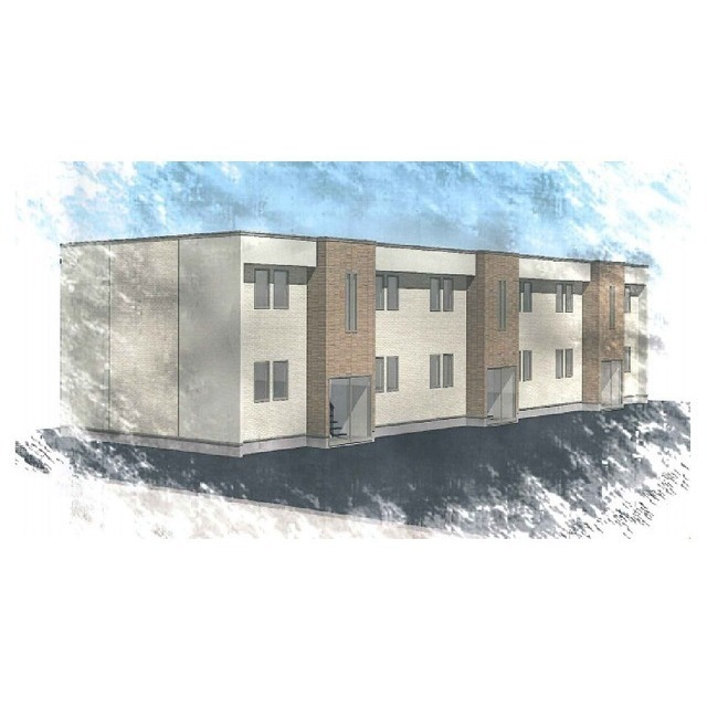 仮)とん田西町新築アパートA(西側)
