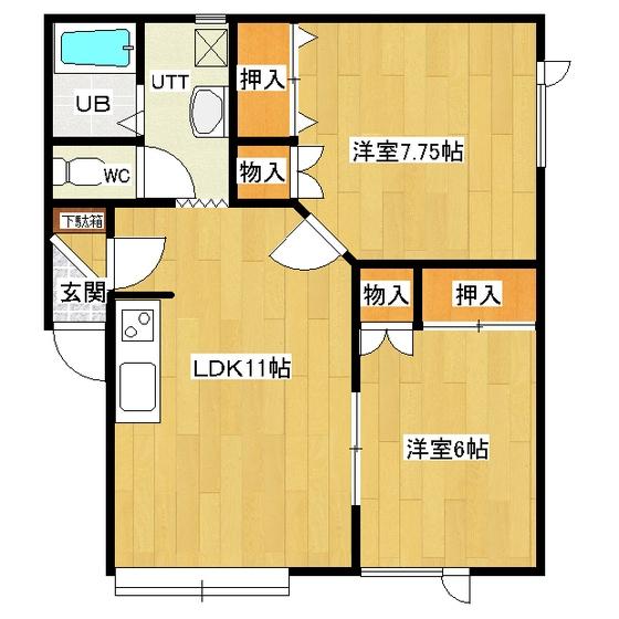 プリーゼント三楽 101号室