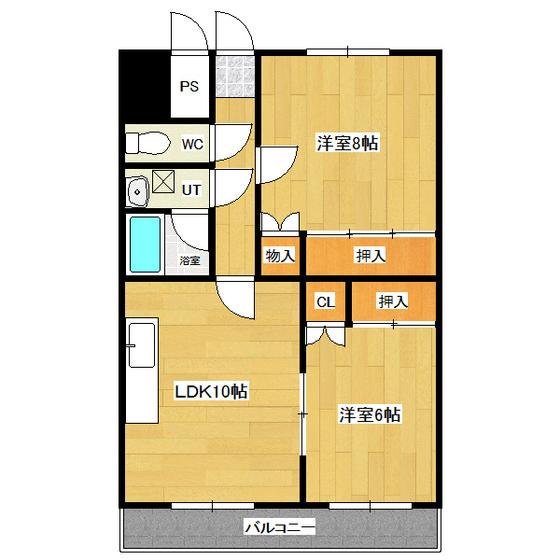オ・ドミール中の島 205号室