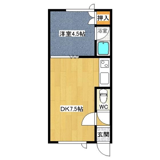オーチャードK1 202号室