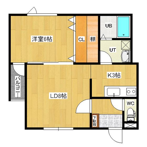 リバーサイドラピュタ(N) A-13号室