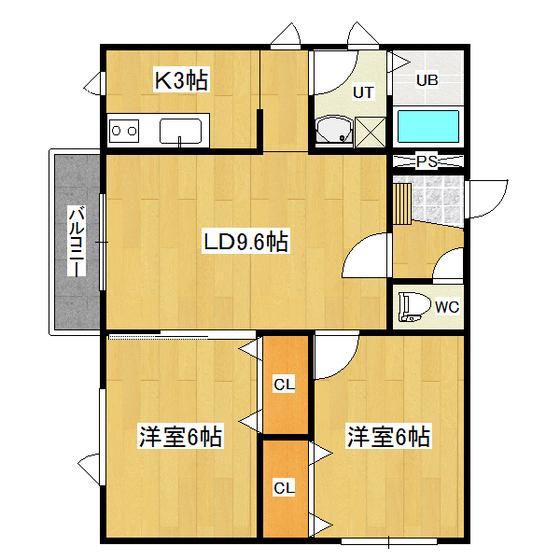 リバーサイドラピュタ(N) A-21号室