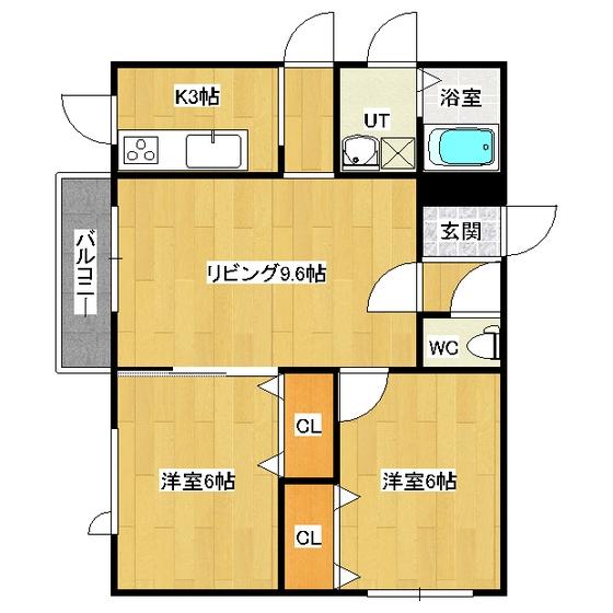 リバーサイドラピュタ(N) B21号室