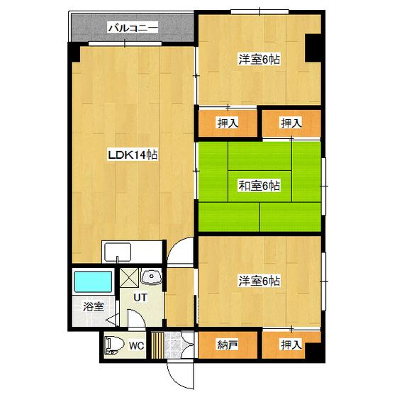 シュトラール4・6 3-E号室