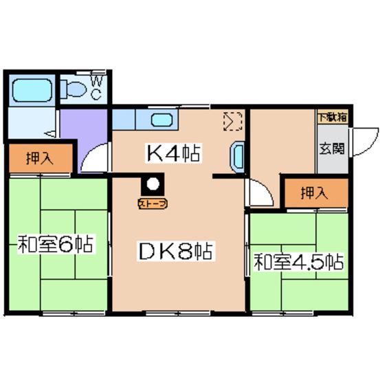 錦町貸アパート 2F号室