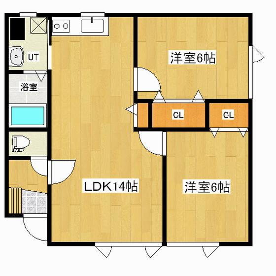 ハピネス三輪 2-2号室