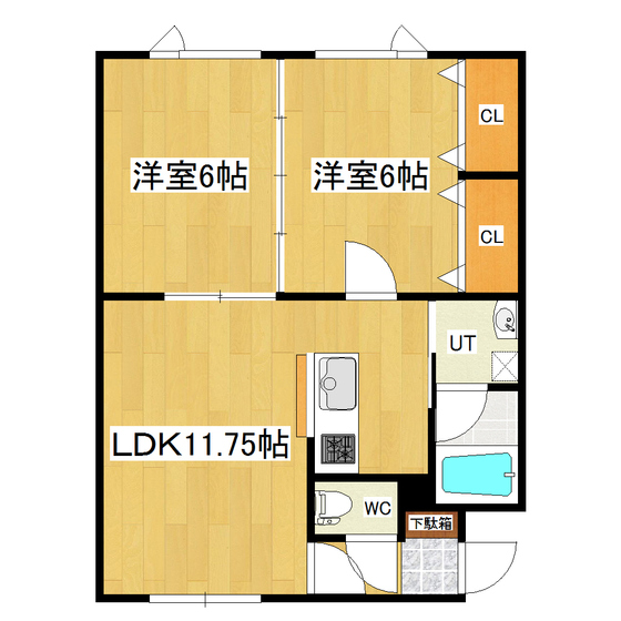 OSハイツ 1-D号室