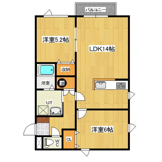 ラ・パルフェド ルーエ 1-B号室