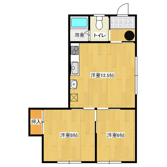 山岸第3ハイツ 201号室