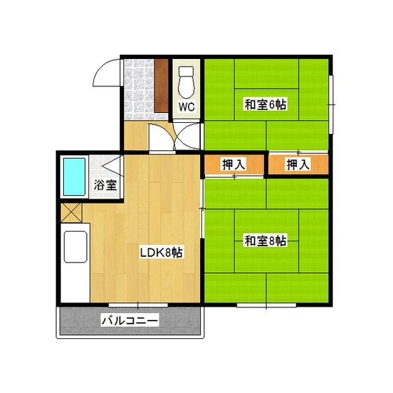 里栄ハイツ 201号室