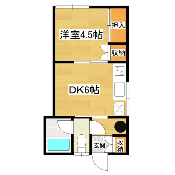 山岸第2ハイツ 6号室