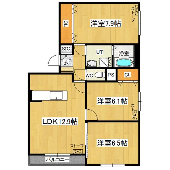 シャトレーゼ 302号室