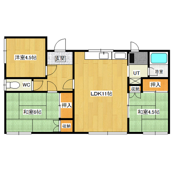 西2条南2丁目1番地21貸家 1号室
