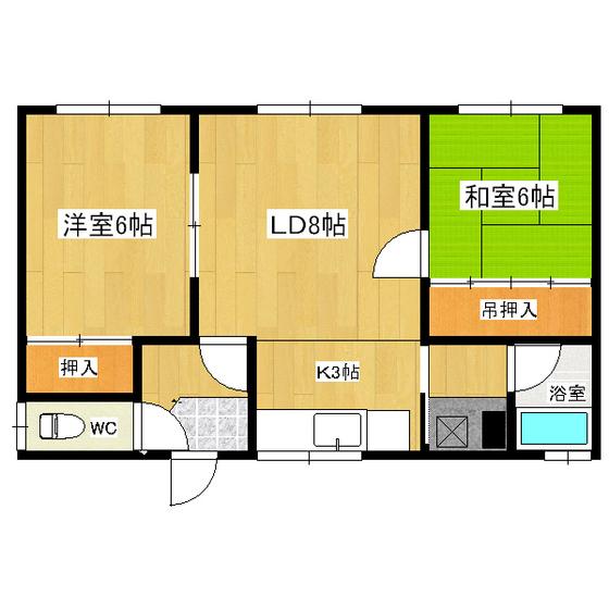 長野2戸借家(南町) 2号室