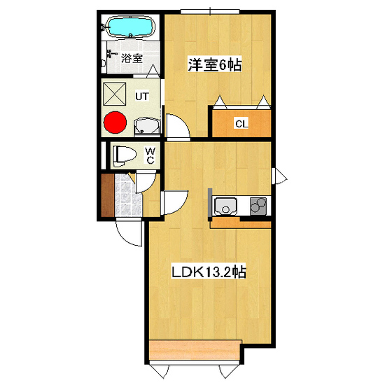 ハピネスライト 2-D号室
