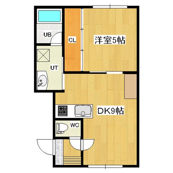 グレイスコート 2-B号室