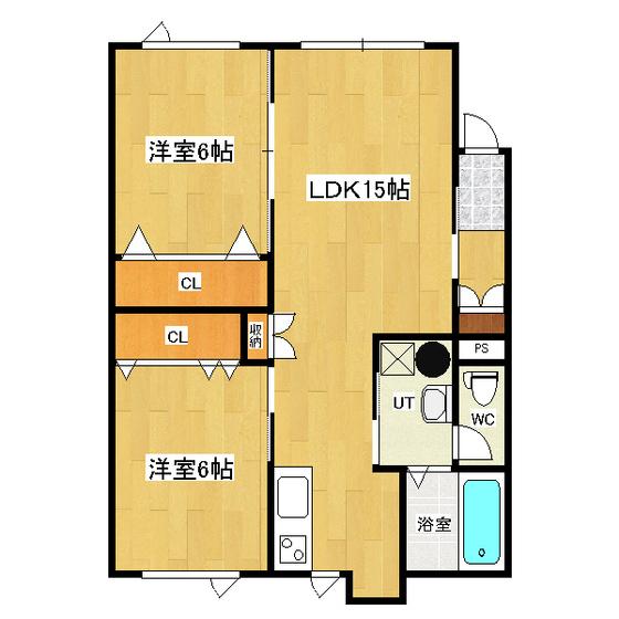 ハイツ葉亜舞 1-2号室