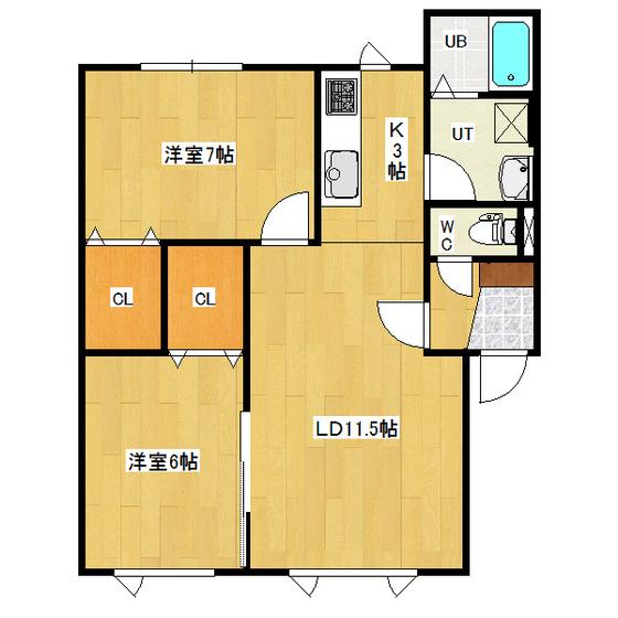MIYAMA HILLS D 201号室