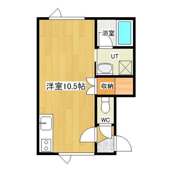 クレイトンハウス 2-B号室 間取り図