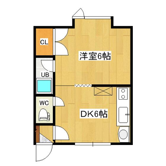 ホークハイツI 1-2号室