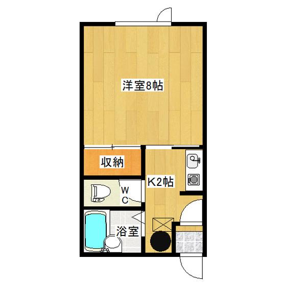 イナダマンション 1-D号室
