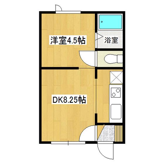 ハピネスII 1-D号室