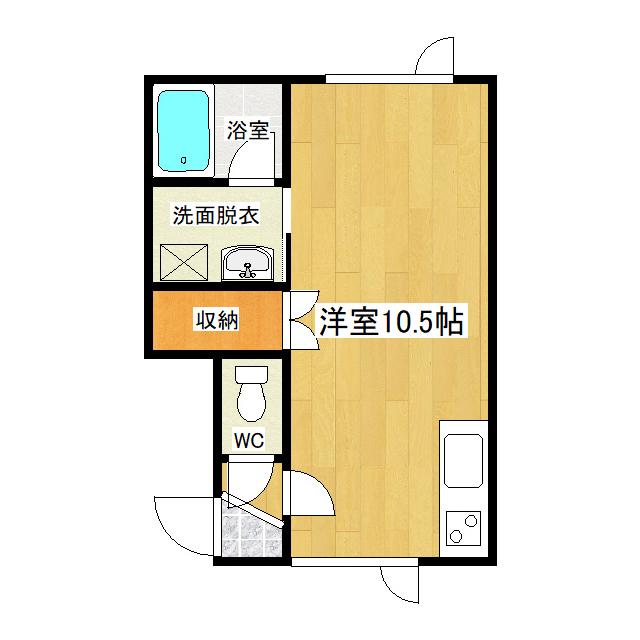 クレイトンハウス 1-C号室
