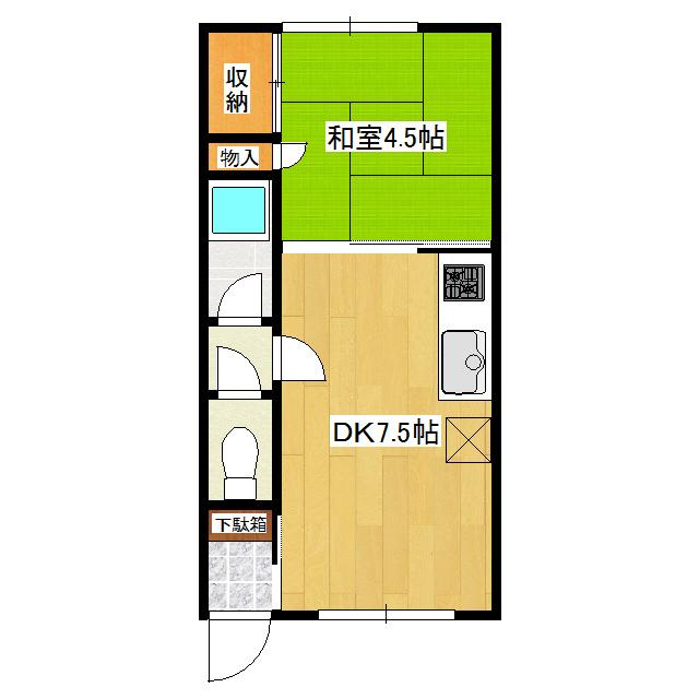 南仲町1号ハイツ 205号室