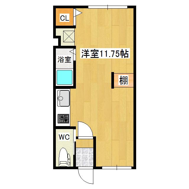 Prier〜プリエ〜 1F3号室 間取り図
