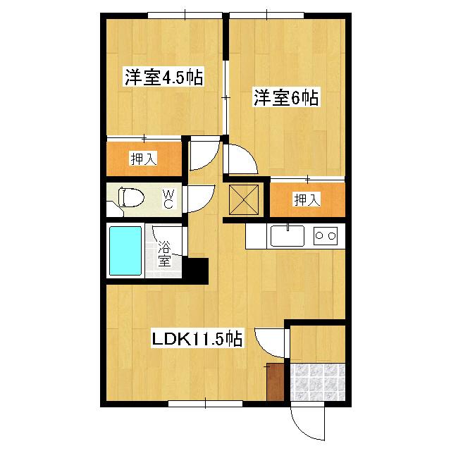 シンセイハイム 2-1号室