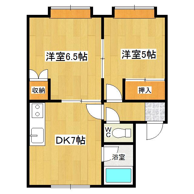 ル・シャレ 201号室 間取り図