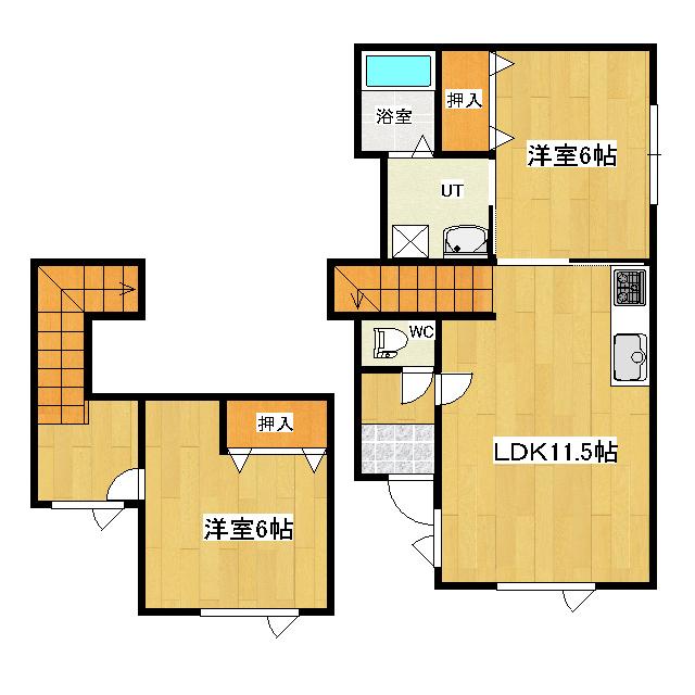 末広町163−63二戸借家 2号室