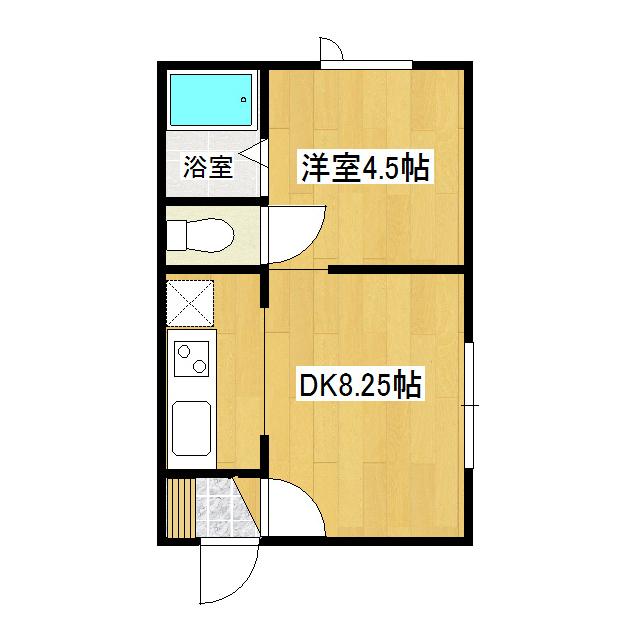 ハピネスII 2-A号室