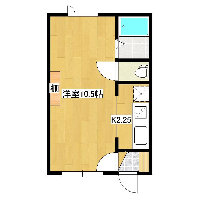 ハピネスII 2-D号室