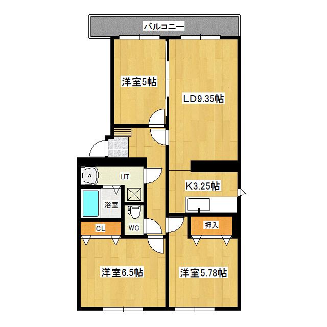 グリーンヒル多谷 3-A号室