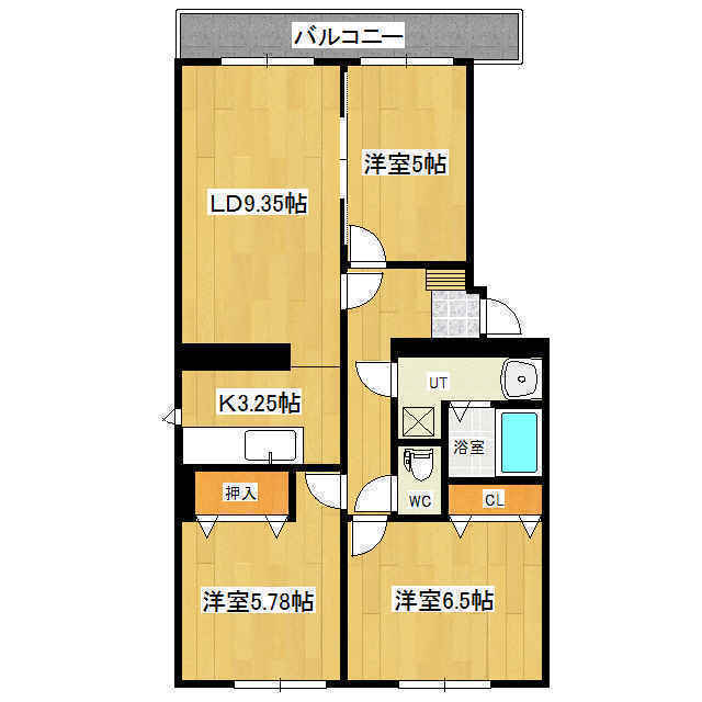 グリーンヒル多谷 3-B号室