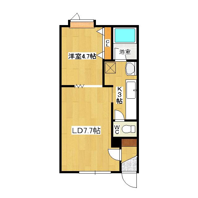 ミントヒルズIII 202号室