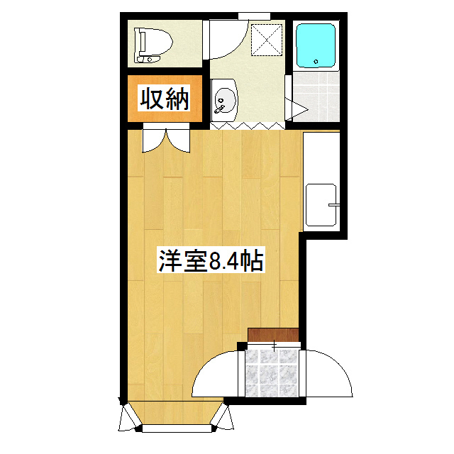 博ハイツ 1-2号室