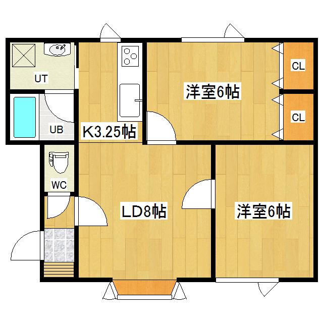コーポ北上 1-2号室