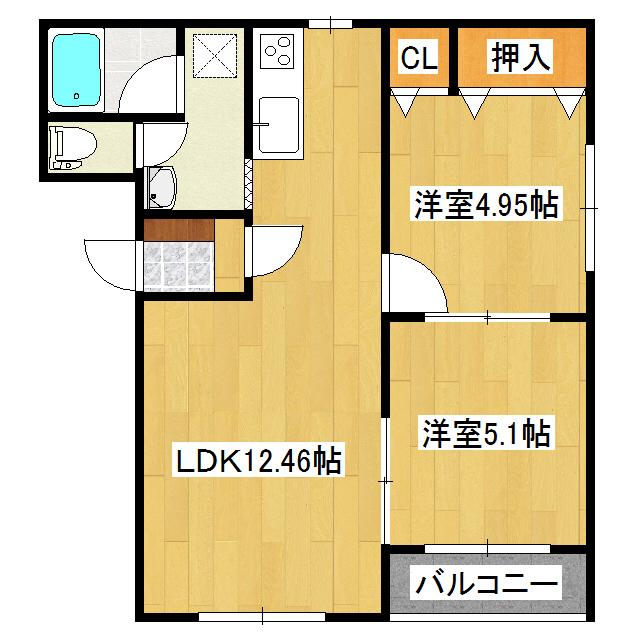 ピュアライフ常盤 2-B号室