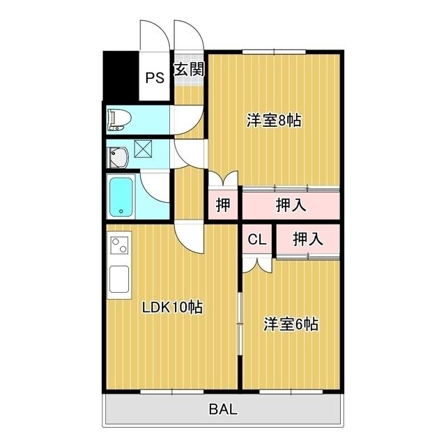 オ・ドミール中の島 302号室