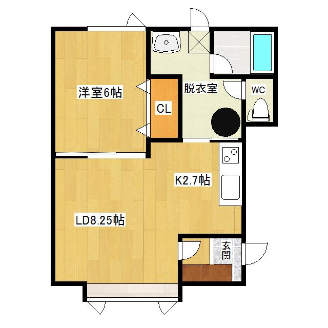 コーポラスマルミII 1-1号室