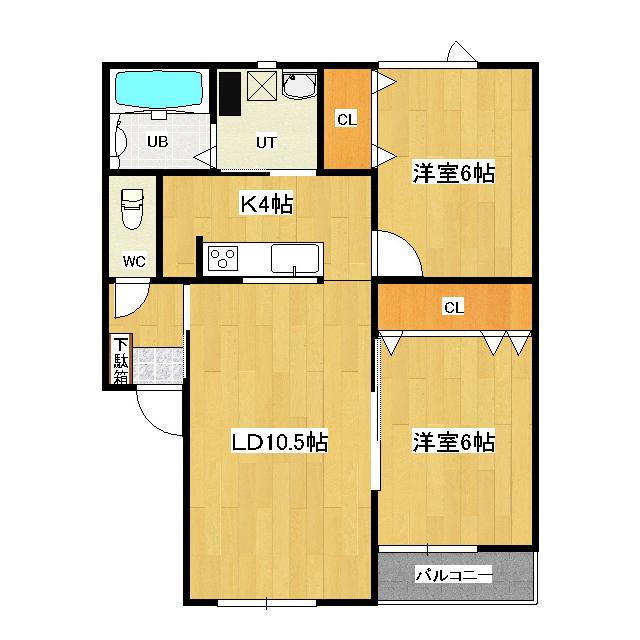 ハイムau 102号室