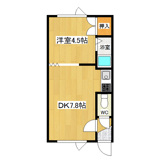 オーチャードK1 102号室