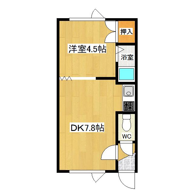 オーチャードK1 206号室