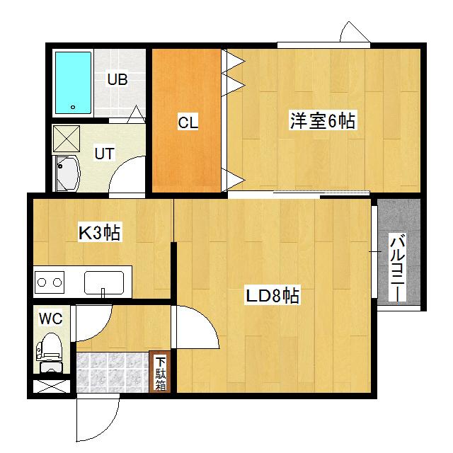リバーサイドラピュタ(N) B33号室