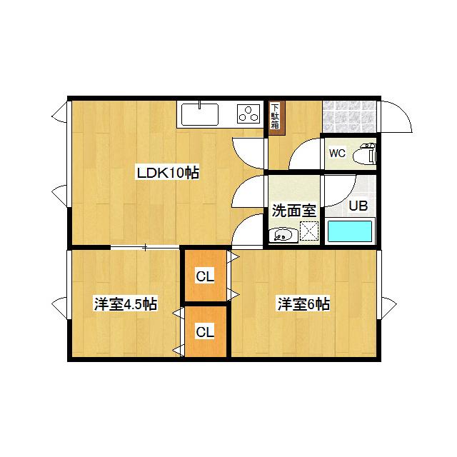 ソレイユとん田 202号室