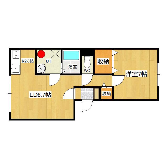 ハーツクライ 102号室