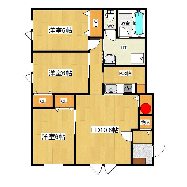 クランベリー 101号室