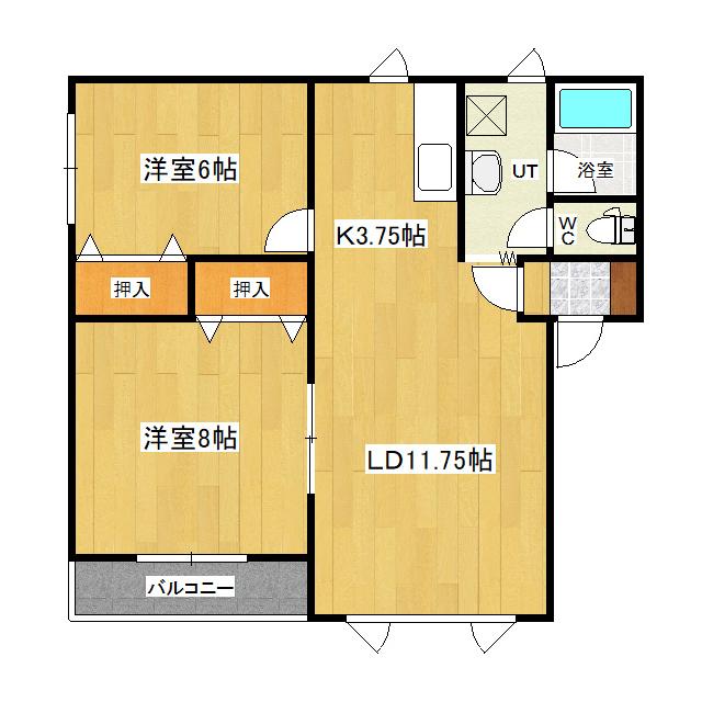 シャンブルーII 2-A号室